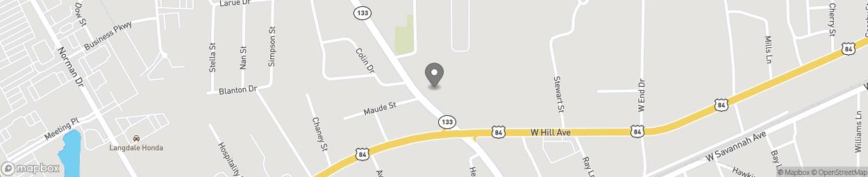 Map of 107 North St Augustine Road in Valdosta
