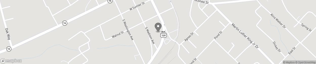 Map of 104 S Oak Street in Eatonton