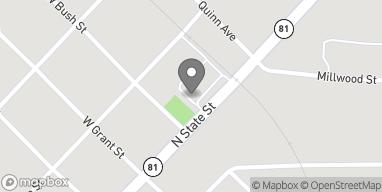 Map of 615 N State Street in Caro