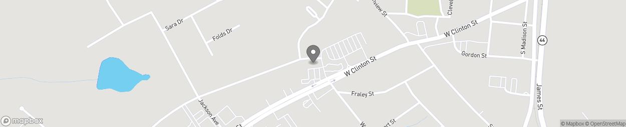 Map of 222b West Clinton Street in Gray