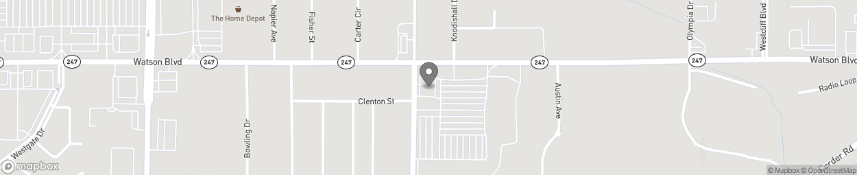 Map of 2207 Watson Blvd in Warner Robins