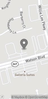 Map of 4016 Watson Blvd in Warner Robins