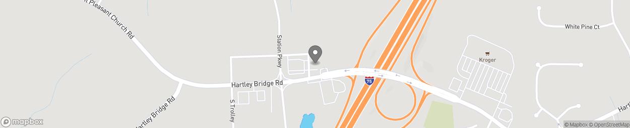 Map of 4559 Hartley Bridge Rd in Macon