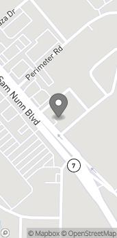 Mapa de 1324 Sam Nunn Blvd en Perry