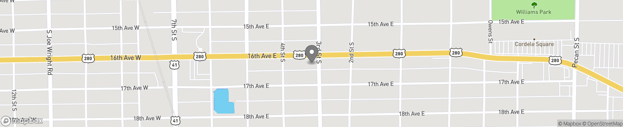 Map of 416 East 16th Ave in Cordele