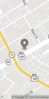 Mapa de 325 Jesse Jewel Pkwy en Gainesville