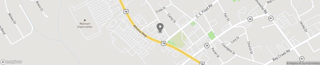 Map of 4358 Atlanta Highway in Loganville