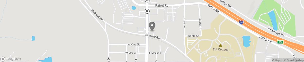 Map of 123 N Lee St in Forsyth
