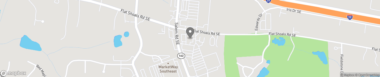 Map of 2021 Flat Shoals Road in Conyers