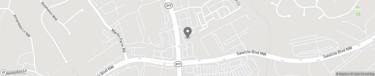 Map of 3379 Lawrenceville Suwanee R in Suwanee