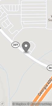 Map of 3675 Browns Bridge Road in Cumming