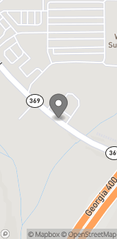 Mapa de 3675 Browns Bridge Road en Cumming