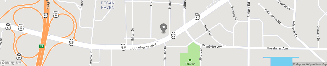 Map of 2001 East Oglethorpe Blvd in Albany