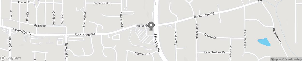 Map of 4845 Rockbridge Road in Stone Mountain