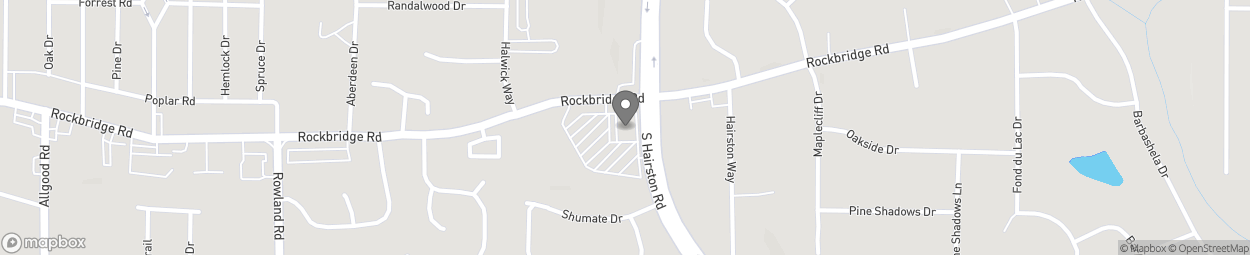 Map of 4845 Rockbridge Road in Stone Mountain