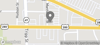 Map of 1322 East Lamar Street in Americus