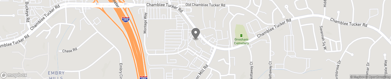 Map of 3611 Chamblee-Tucker Road in Chamblee