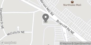 Mapa de 4805 Briarcliff Rd NE en Atlanta