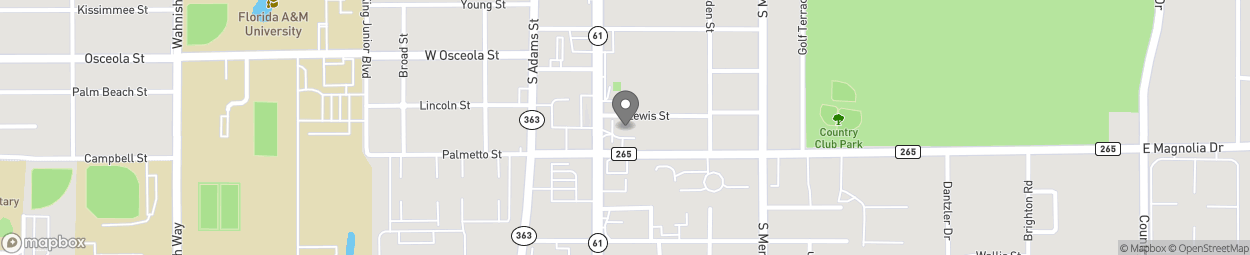Map of 2135 S Monroe Street in Tallahassee