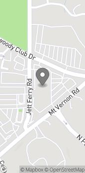 Map of 2488 Mt Vernon Road in Dunwoody