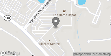 Map of 1580 Holcomb Bridge Rd in Roswell