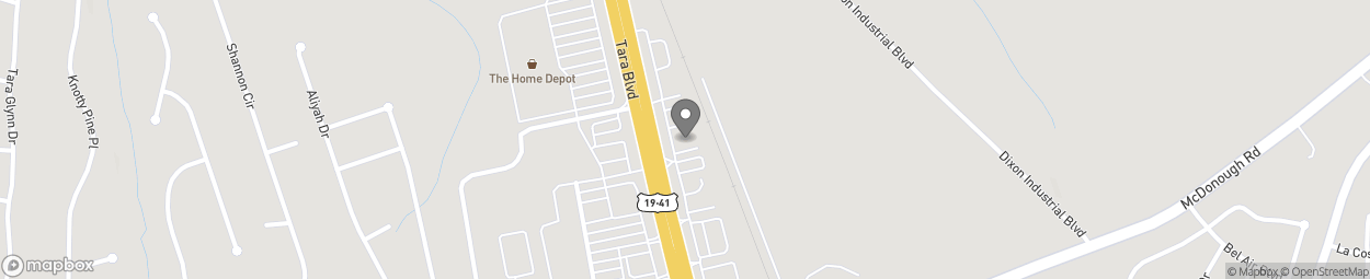 Map of 11140 Tara Blvd in Lovejoy