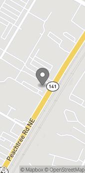 Map of 105 Town Boulevard in Atlanta