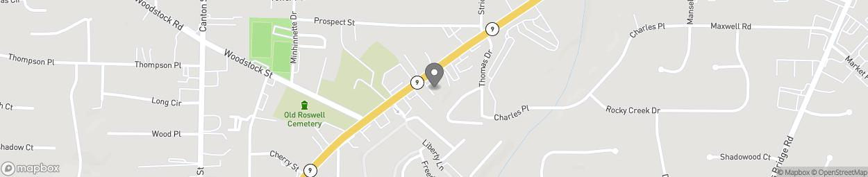 Map of 1155 Alpharetta Street in Roswell