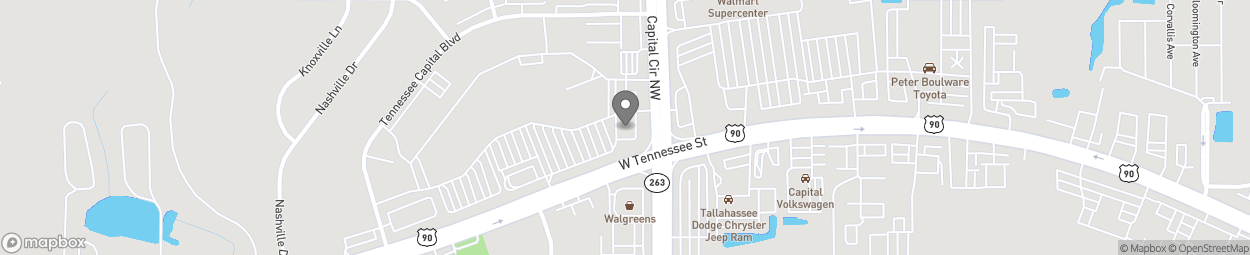 Map of 5000 W Tennessee St in Tallahassee