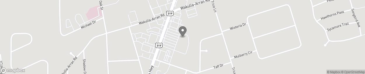 Map of 2623 Crawfordville Hwy in Crawfordville