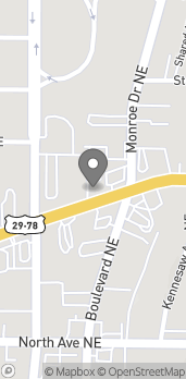 Map of 470 Ponce De Leon Ave NE in Atlanta