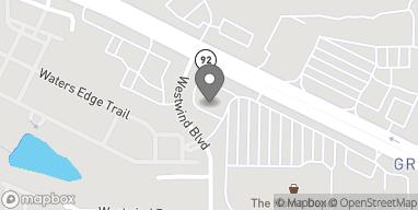 Mapa de 880 Woodstock Rd en Roswell