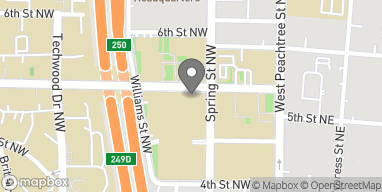 Map of 62 5th St NW in Atlanta