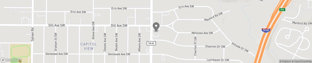 Map of 1344 Metropolitan Pkwy SW in Atlanta