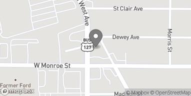 Map of 1419 N West Avenue in Jackson
