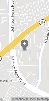 Map of 4250 Roswell Rd in Marietta