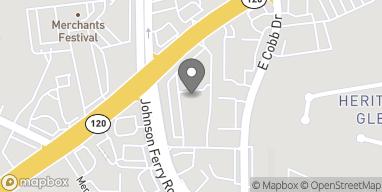 Mapa de 4250 Roswell Rd en Marietta