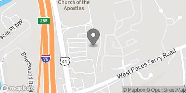Mapa de 3523 Northside Pkwy NW en Atlanta