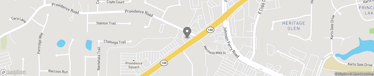 Map of 4195 Roswell Road in Marietta