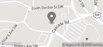 Map of 629 Cascade Avenue SW in Atlanta