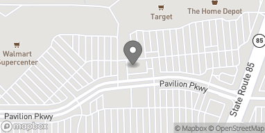 Map of 117 Pavilion Pkwy in Fayetteville