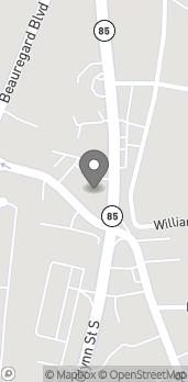 Mapa de 455 Glynn St en Fayetteville