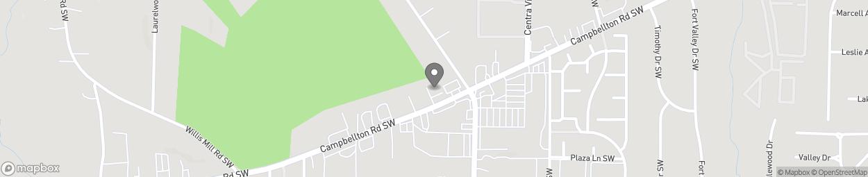 Map of 2129 Campbellton SW in Atlanta