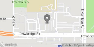 Map of 1030 Trowbridge Road in East Lansing