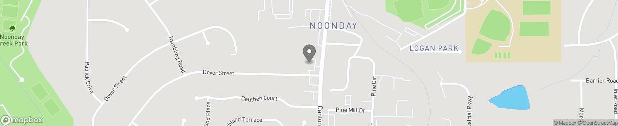 Map of 4489 Canton Road NE in Marietta