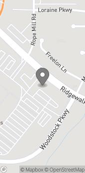 Map of 881 Ridgewalk Parkway in Woodstock