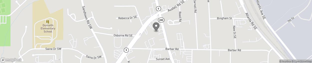 Map of 1420 S Cobb Drive in Marietta