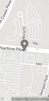 Map of 1007 Peachtree Parkway North in Peachtree City