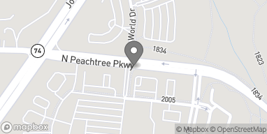 Mapa de 1007 Peachtree Parkway North en Peachtree City