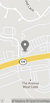 Map of 3636 Dallas Hwy in Marietta